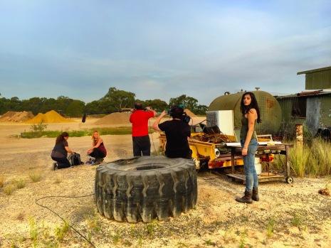 On Set - Photography Dan Krige